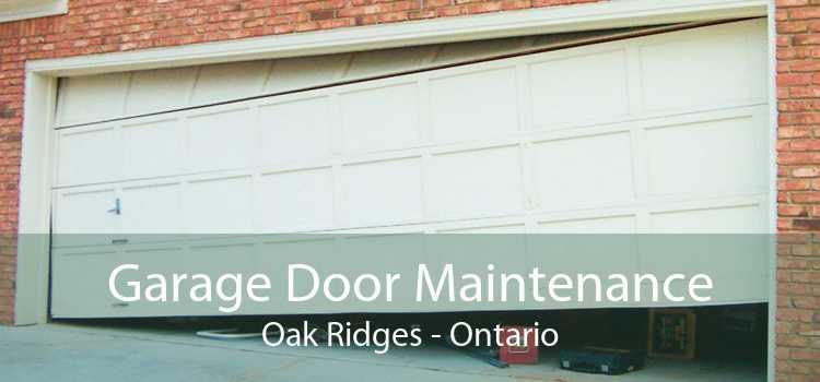 Garage Door Maintenance Oak Ridges - Ontario