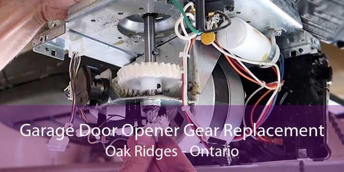 Garage Door Opener Gear Replacement Oak Ridges - Ontario