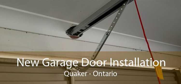 New Garage Door Installation Quaker - Ontario