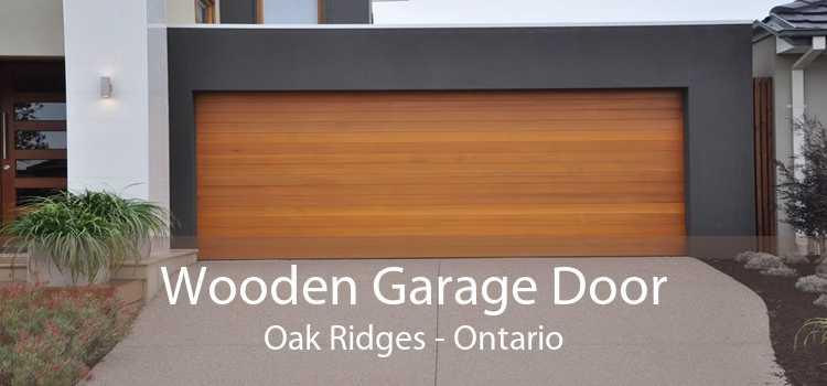 Wooden Garage Door Oak Ridges - Ontario