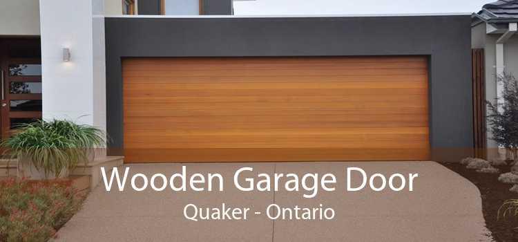 Wooden Garage Door Quaker - Ontario
